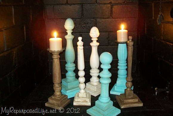 candlesticks from bed parts