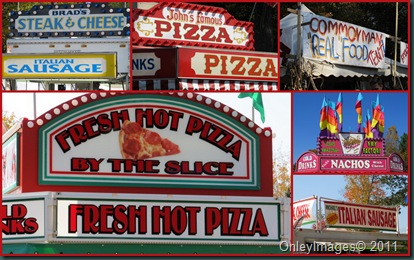 sausage-pizza collage