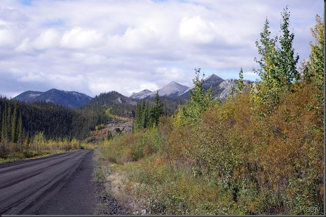 The highway by Engineer Creek