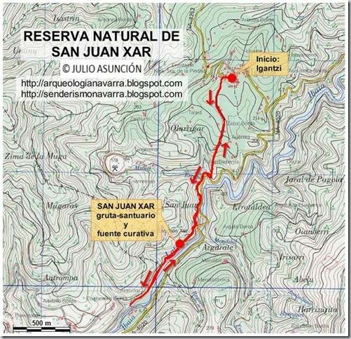 Mapa ruta Igantzi-San Juan Xar