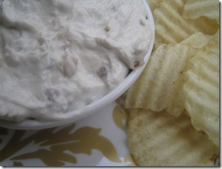 french onion dip close up