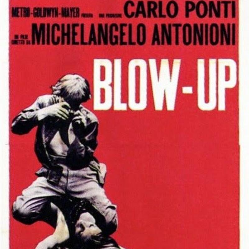 Blow-Up memorabile film di Michelangelo Antonioni, in cerca di una profondità metaforica e metafisica alla Borges.