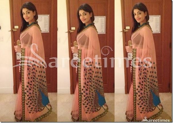 Kajal_Pink_Embellished_Saree