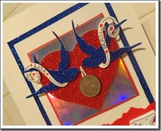 blue birds sixpence card