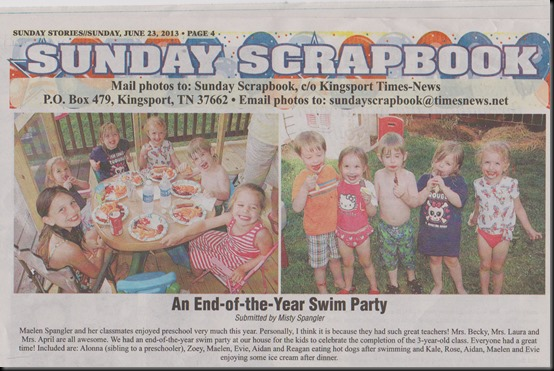 Sunday Paper   Pre School Party