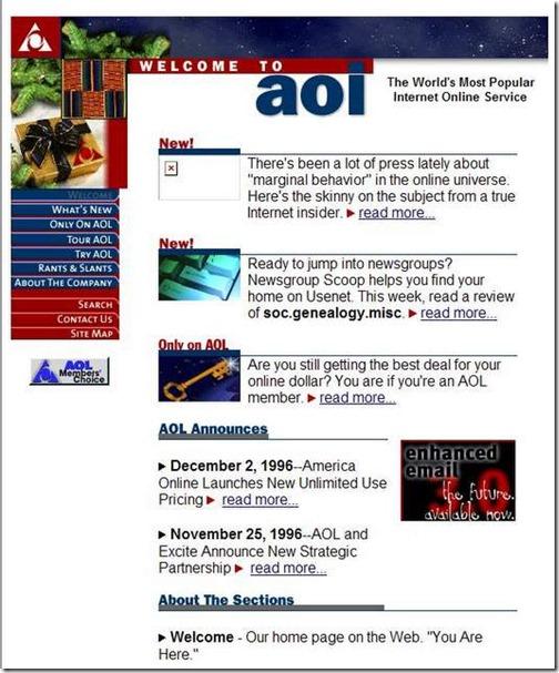 America On line Diciembre 1996