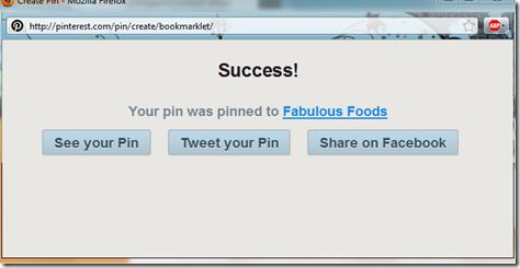 pinned success