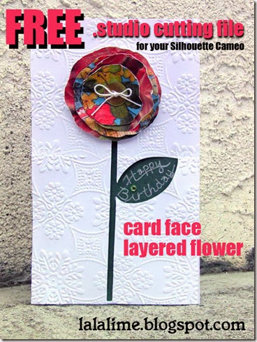 Family Challenge 8 & a FREE . Layered Flower cutting file for YOU!