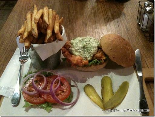 1885-墨西哥塔塔酥炸雞肉漢堡1