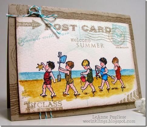LeAnne Pugliese WeeInklings Beach Babies Stampin Papertrey