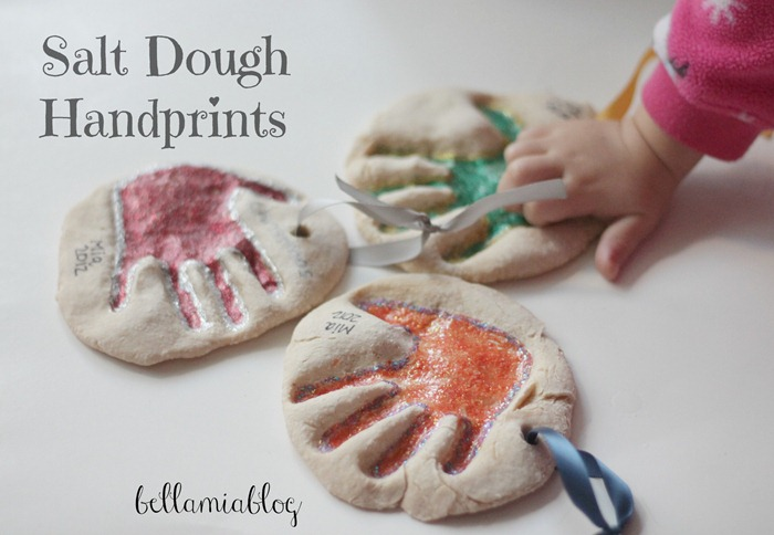 salt dough handprints