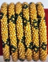 rollover bracelet golden black