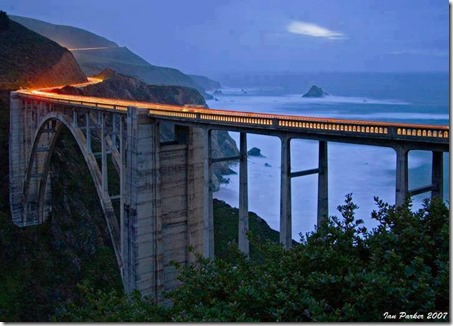 big sur bridge california usa