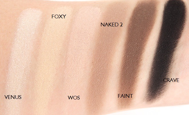 swatches of naked basics
