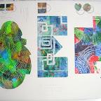 Corespondances réalisée sur place de gauche à droite les labyrinthes de Bernard, Carsten et Elisabeth.