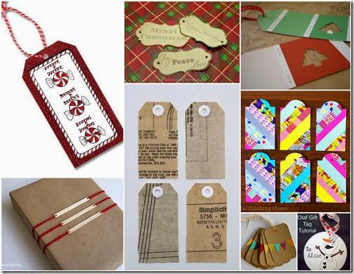 8 handmade gift tags
