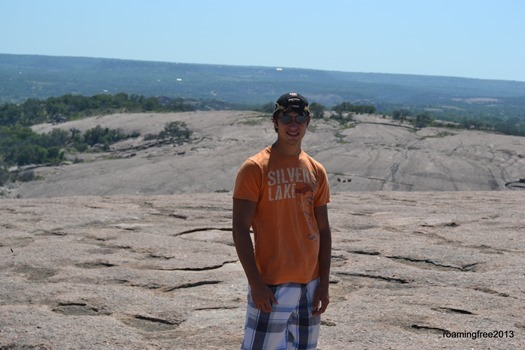Nicolas at the top of Enchanted Rock