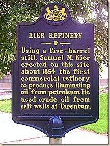 Kier refinery marker
