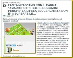 FANTAPAZZ PREVISIONE AZZECCATA