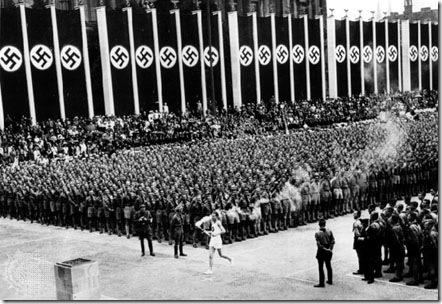Primeiro revezamento da tocha olímpica