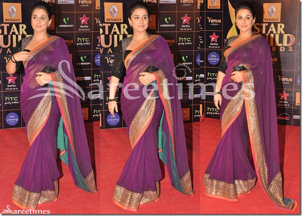 Vidya_Balan_Purple_Sabyasachi_Sari