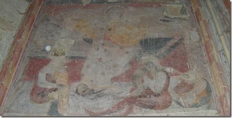 Restos de fescos medievales - San Salvador de Gallipienzo