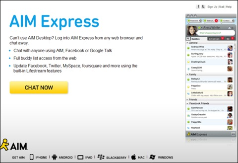 aim-express-home-page