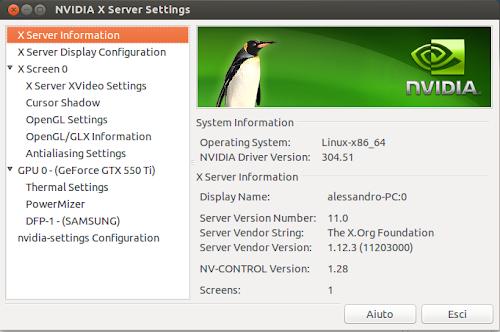 nVidia 304.51 su Ubuntu 12.04