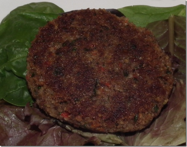 Black Bean Patty from Cookin' Canuck 9-14-11