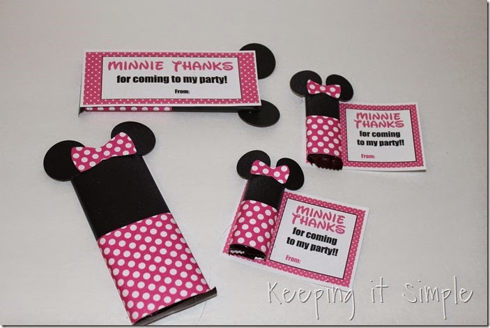 Minne Mouse Candy Bar Party Favor with Printable (2)