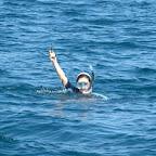Und sie hat sie gefunden! die verlorene Sonnenbrille von Simon: aus 8m Tiefe geholt.