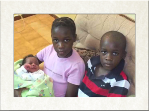 Abi and Joshua with their new sister copy2