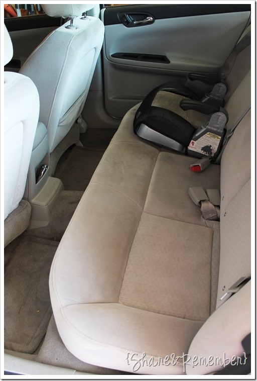 dirty car upholstery and how to clean the Car with #OxiClean Versatile Stain Remover