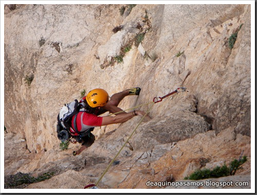 Via Costa Blanca 250m 6c  (6b A0 Oblig) (Peon de Ifach, Alicante) (Isra) 2427