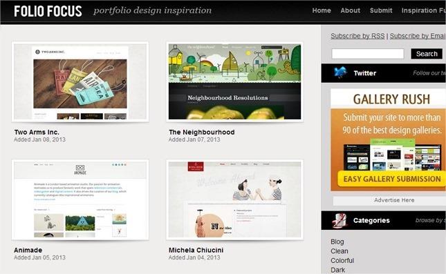 13 galerías web sobre CSS para encontrar inspiración 7
