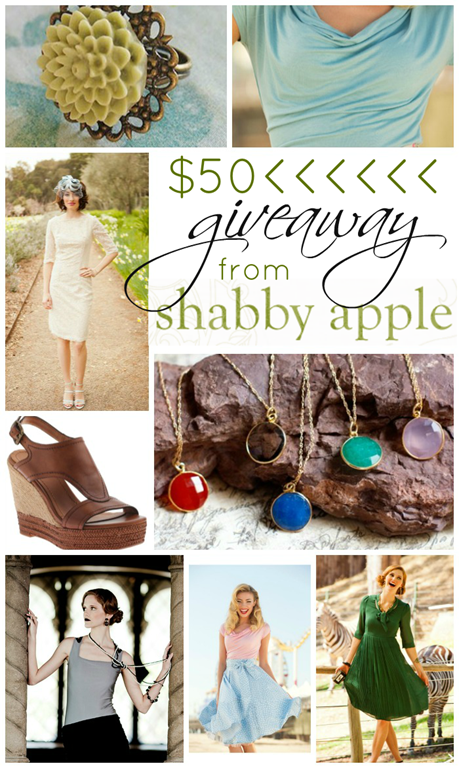 $50 giveaway from Shabby Apple #giveaway