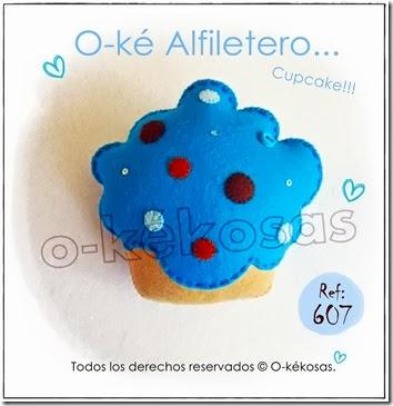 cupcake azul turquesa