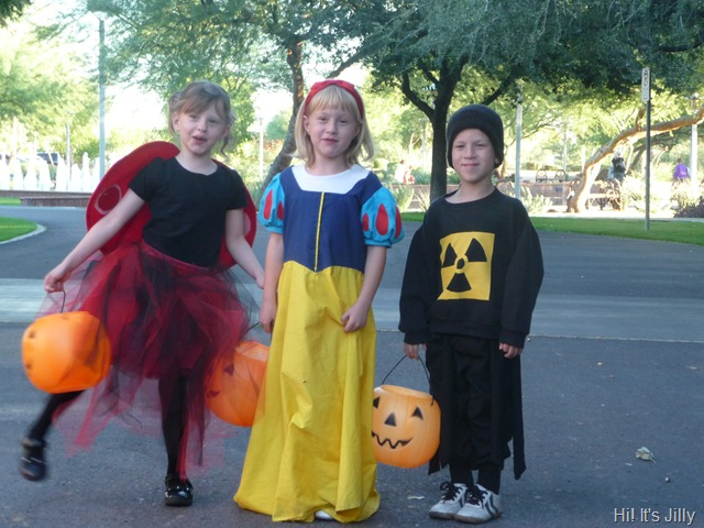 halloween costumes ladybug princess, snow white, radioactive spider