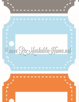 Printable Laundry Basket Name Labels from {ReMarkableHome.net}