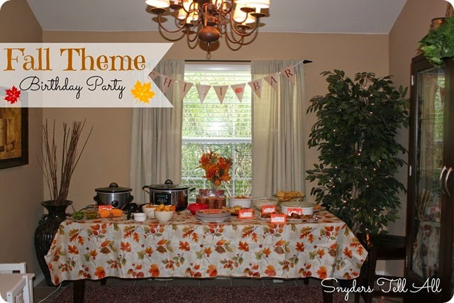 Fall Theme Birthday