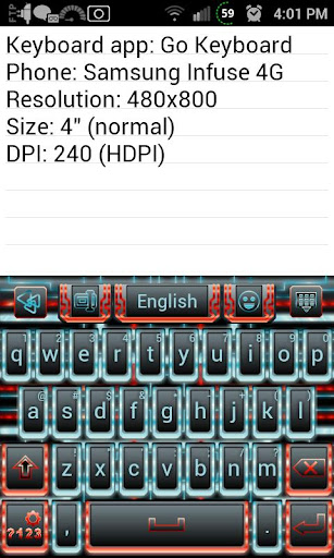 Techno Tron RB Keyboard Skin