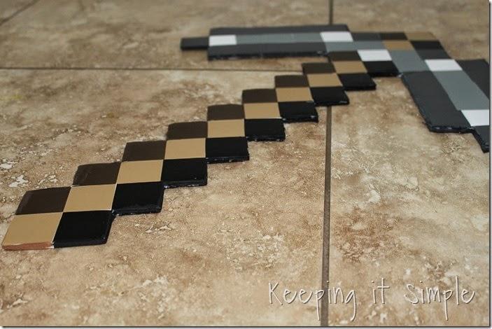 DIY-Foam-Minecraft-Pickaxe-and-Sword (7)