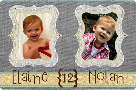 Elaine & Nolan 12 months comparison jpg