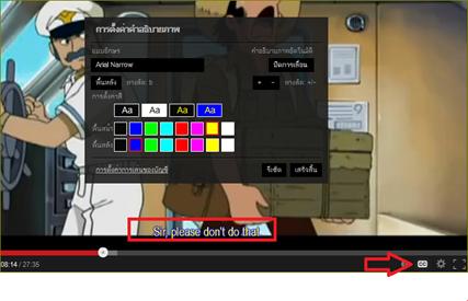 ตั้งค่าการอธิบายภาพใน Youtube