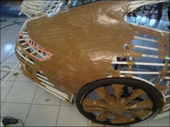 Porsche Car made from a Bicycle 20