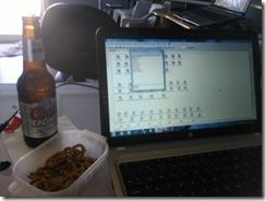 Programando en laptop