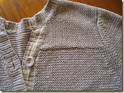 Linen sweater detail