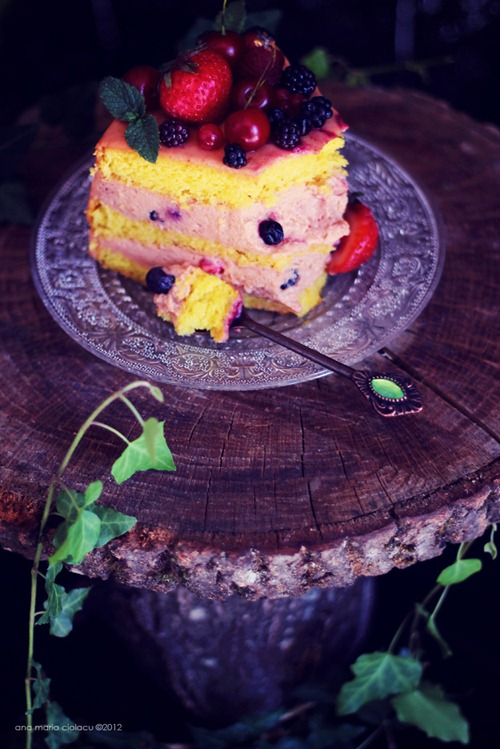 Cherry Berry Mousse Cake 15