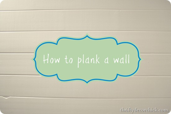How to plank a wall