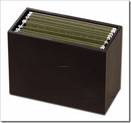 Leather-Hanging-File-Folder-Box